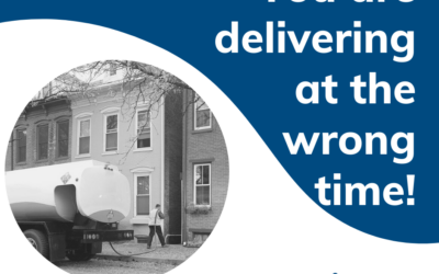 You are delivering at the wrong time!